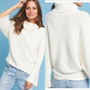 Anthropologie Moth Tisbury BellSleeve Jumper Ivory